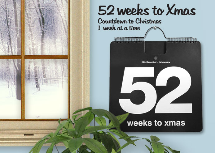 52 Weeks to Xmas, Countdown to Christmas, 1 week at a time