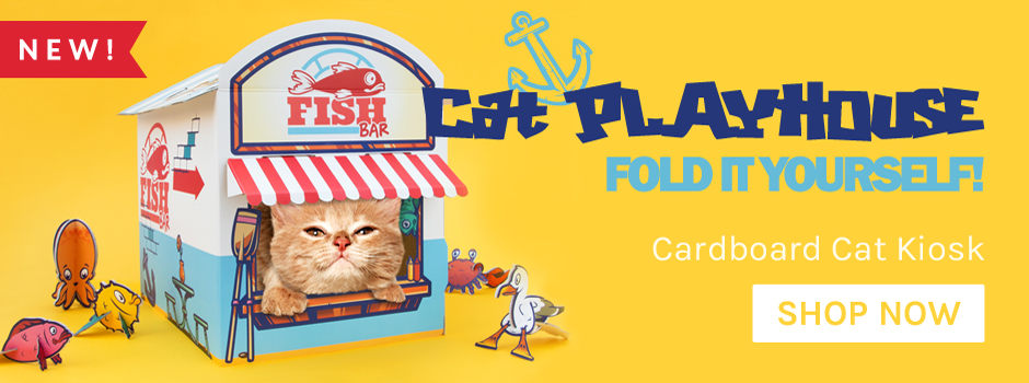 Cardboard Cat Kiosk Now In Stock!