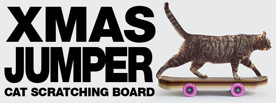 Scratching Skateboard for the coolest cats