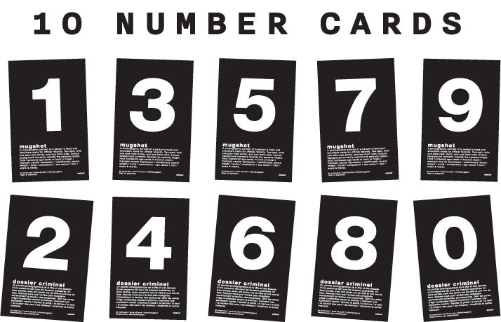 10 number cards