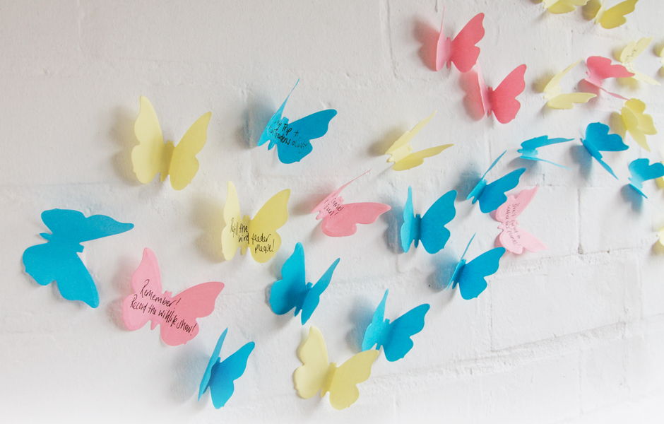3d Sticky Notes Paper Butterfly Wall Decorations Notes