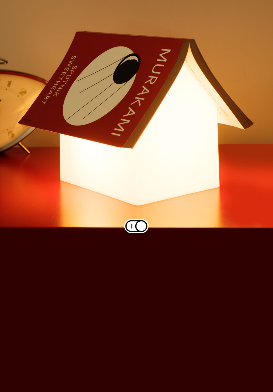 Book Rest Lamp House Shaped Bedside Reading Light Usb Circuit Whilst Youre All Tucked Up In Bed Your Favourite Fairy Tale Horror Story Or Glamour Model Biography