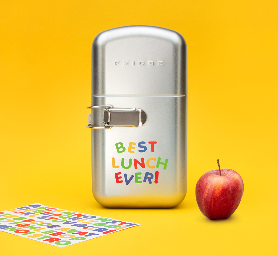 Fridge Lunchbox With Magnet Style Stickers