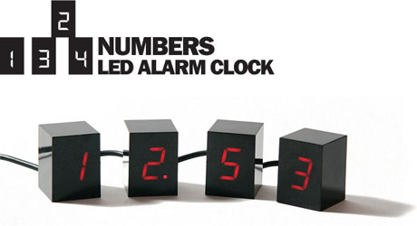 Black Numbers Alarm Clock