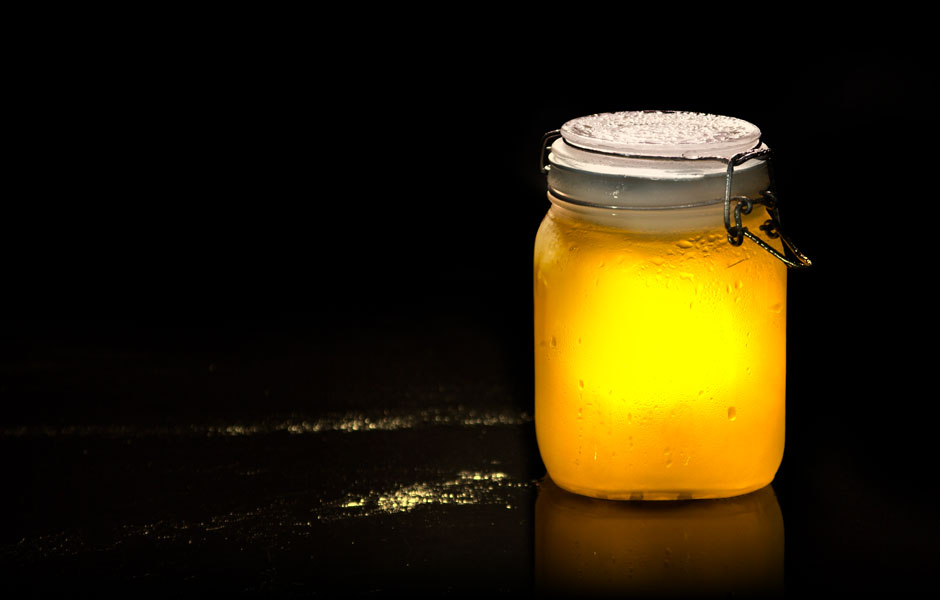 Solar Powwered Night Light in a Jar - Water Proof - Great for the Garden