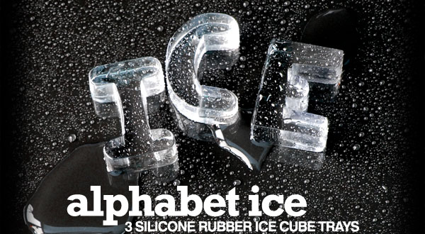 Alphabet ice 3 silicone rubber ice cube trays