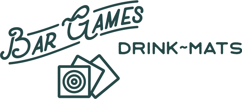 Bar Games Drink Mats Logo
