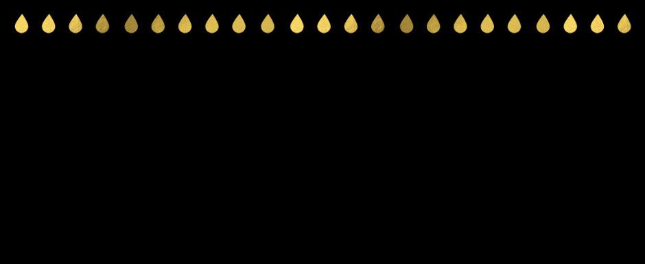 Black background with gold rain drops