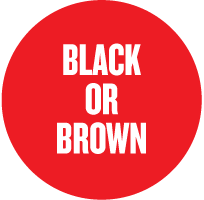 black or brown colours