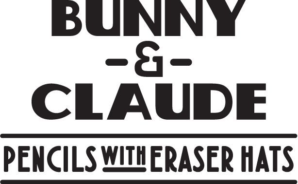Bunny & Claude - Pencils with eraser hats
