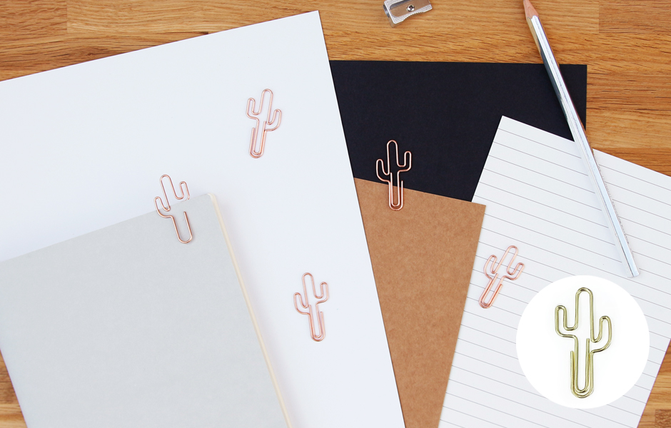 Cactus shaped Paper Clips