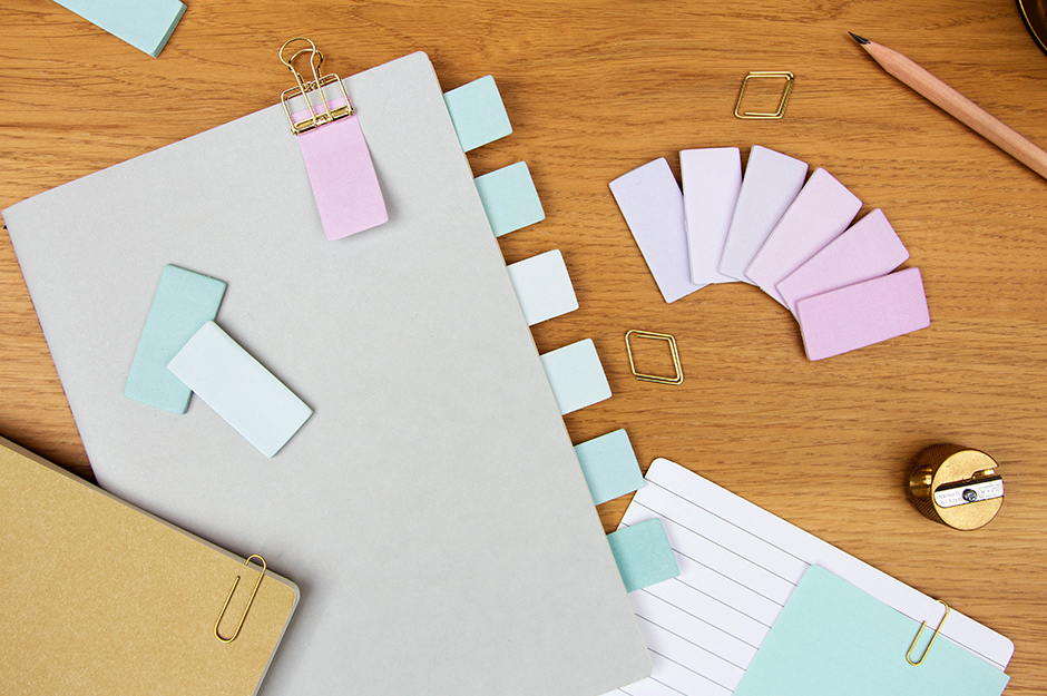 Colour Wheel Sticky Notes On Desk
