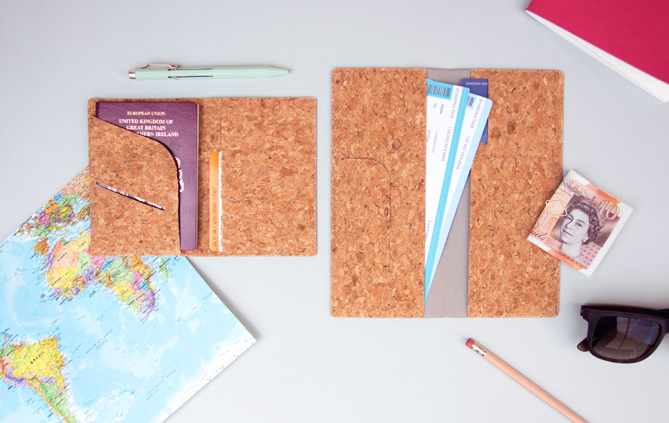 Cork Passport Holders Large and Small