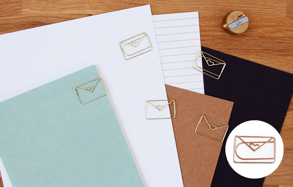 Envelope shaped Paper Clips