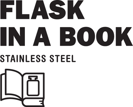 Flask in a book - stainless steel