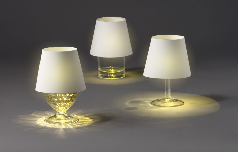 Rechargeable Floating Light Turns Glasses Into Lamps