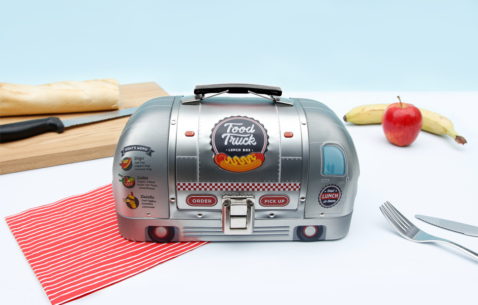 Staionless Steel Food Truck Lunch Box - reminds me of classic AirStream Trailer