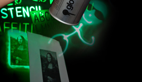glow graffiti glow in the dark spray paint without the paint. Black Bedroom Furniture Sets. Home Design Ideas