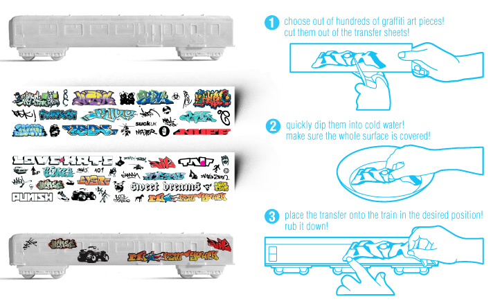 graffiti transfer sheets