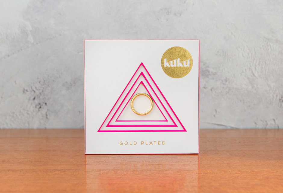 KUKU Gold Hoop Necklace In Pack