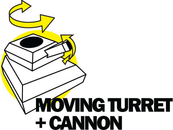 MOVING TURRET AND CANNON