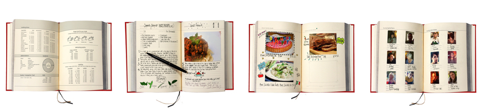 Cook Book with examples of filled in pages