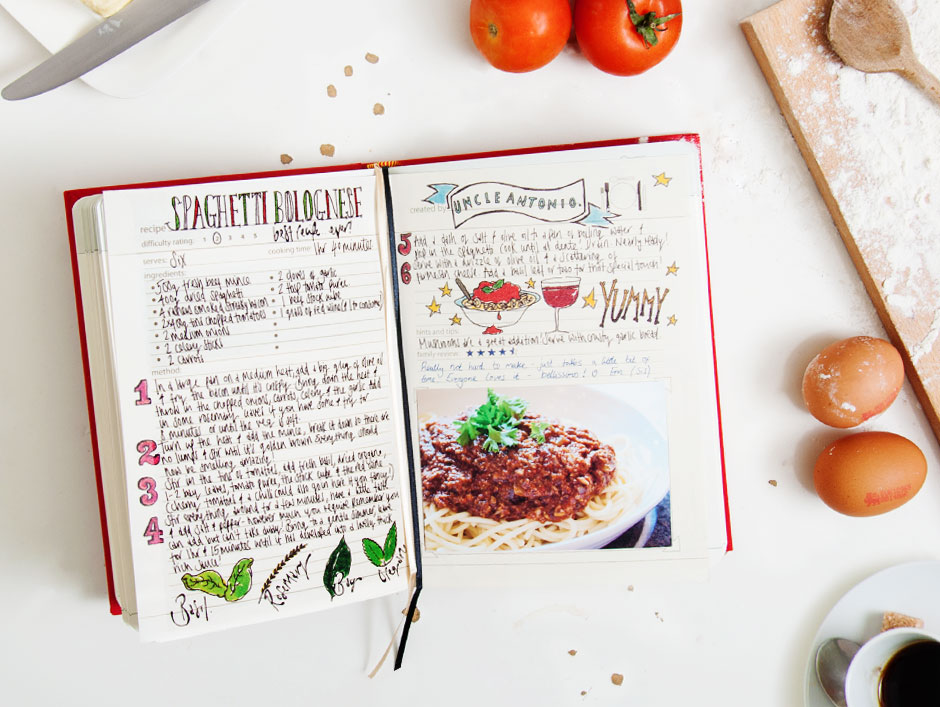 Favorite Family Recipes: Blank Recipe Book