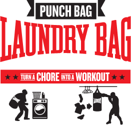 punch bag laundry bag - turn a chore into a workout
