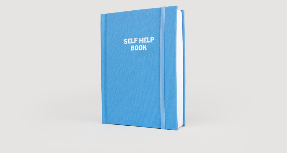 Blue self help book