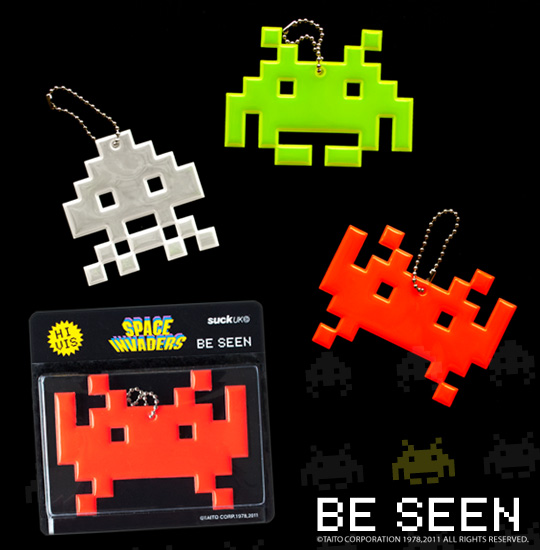 Space Invaders Be Seen At Night With Reflective Video