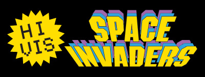 Hi Vis Space Invaders