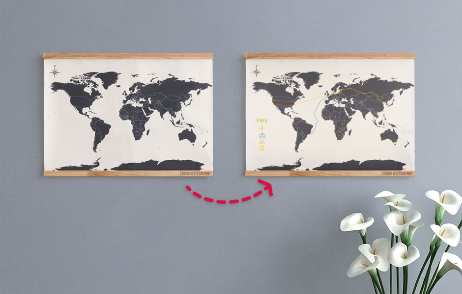 Cross stitch map sew your way around the world we also need to know gumiabroncs Images