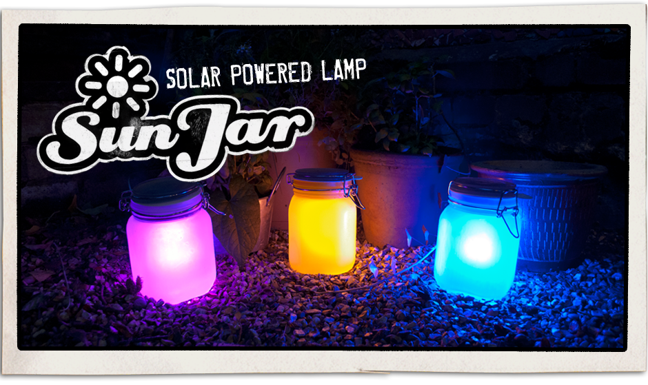 Sun Jar, solar powered lamp