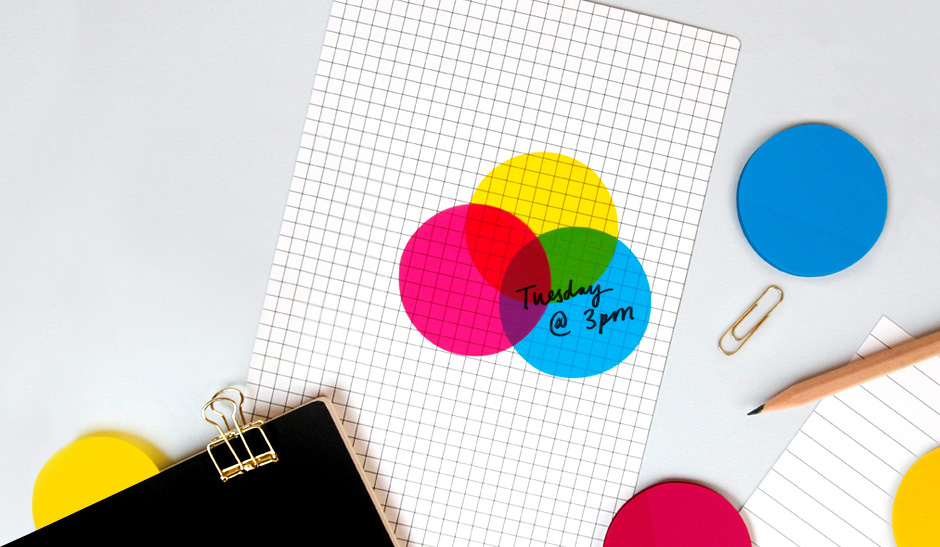 Transparent CMYK Round Sticky Notes