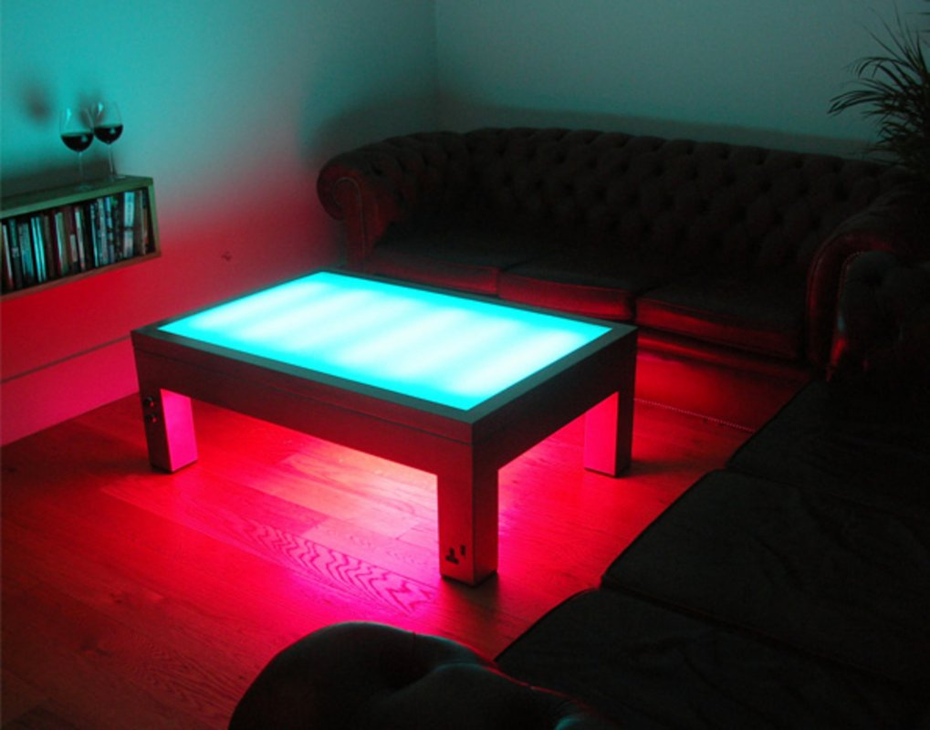 coffee table furniture that lights up the room. Black Bedroom Furniture Sets. Home Design Ideas