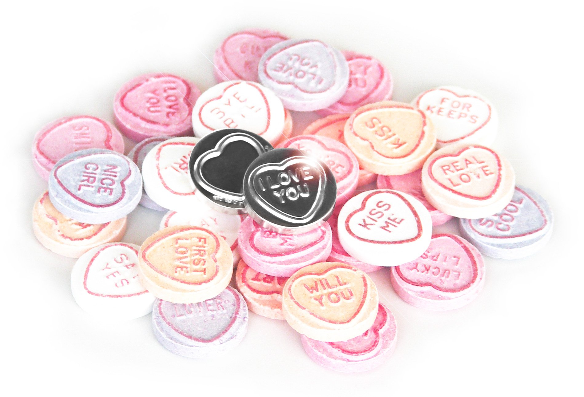 love hearts content gallery silver replica of the classic retro sweet