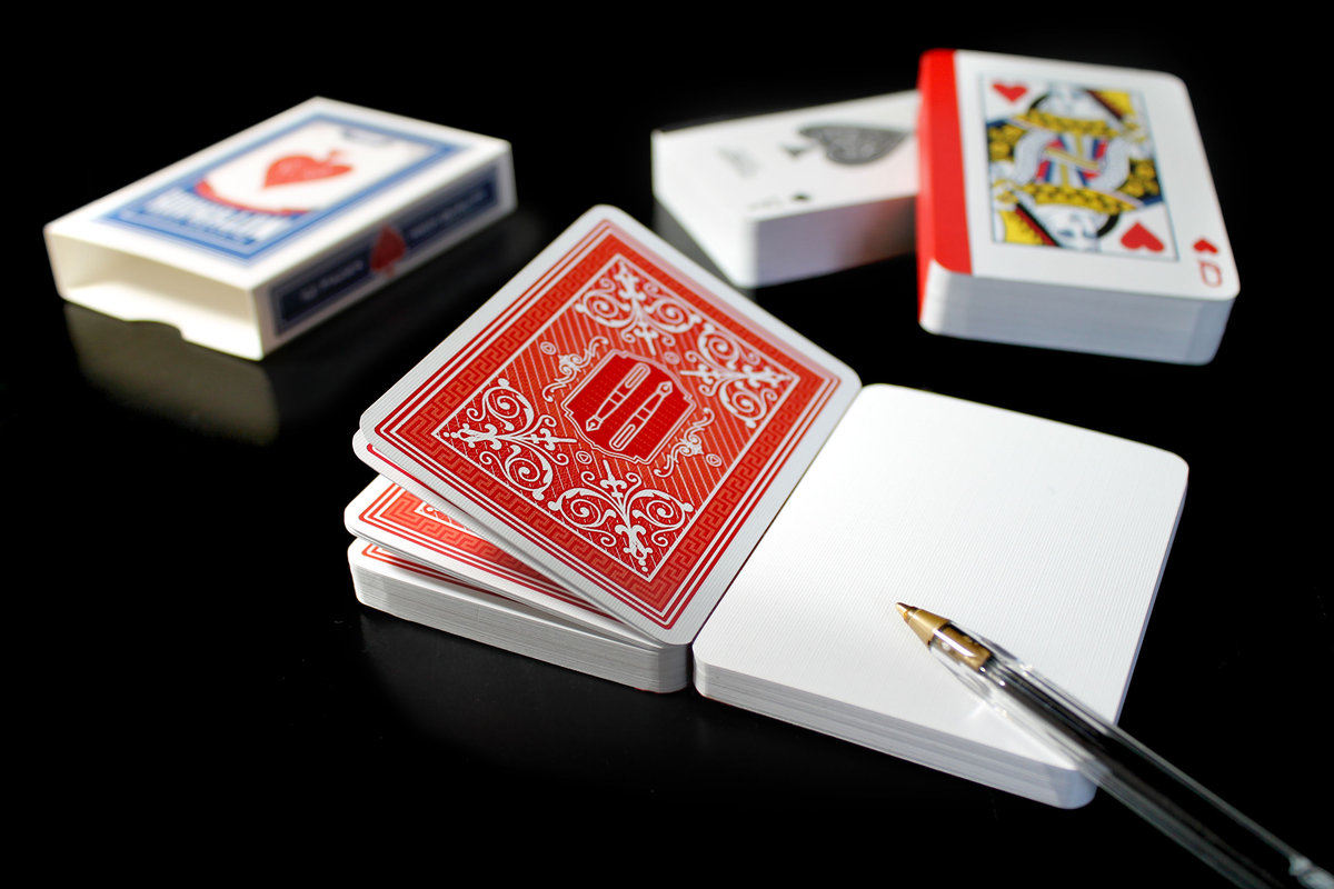Playing Card Notebook -  Design by Suck UK