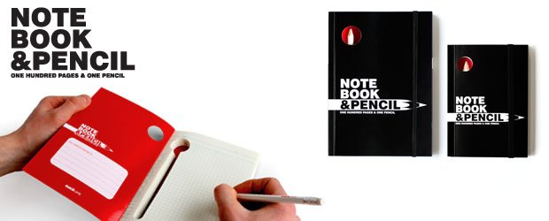 Pencil concealed in a note book