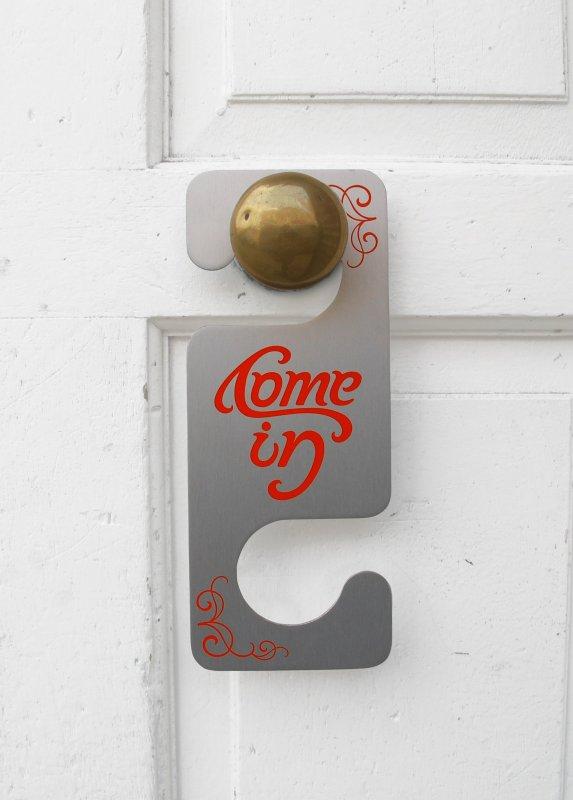 Image & Door Hanger : Do Not Disturb ... with a twist