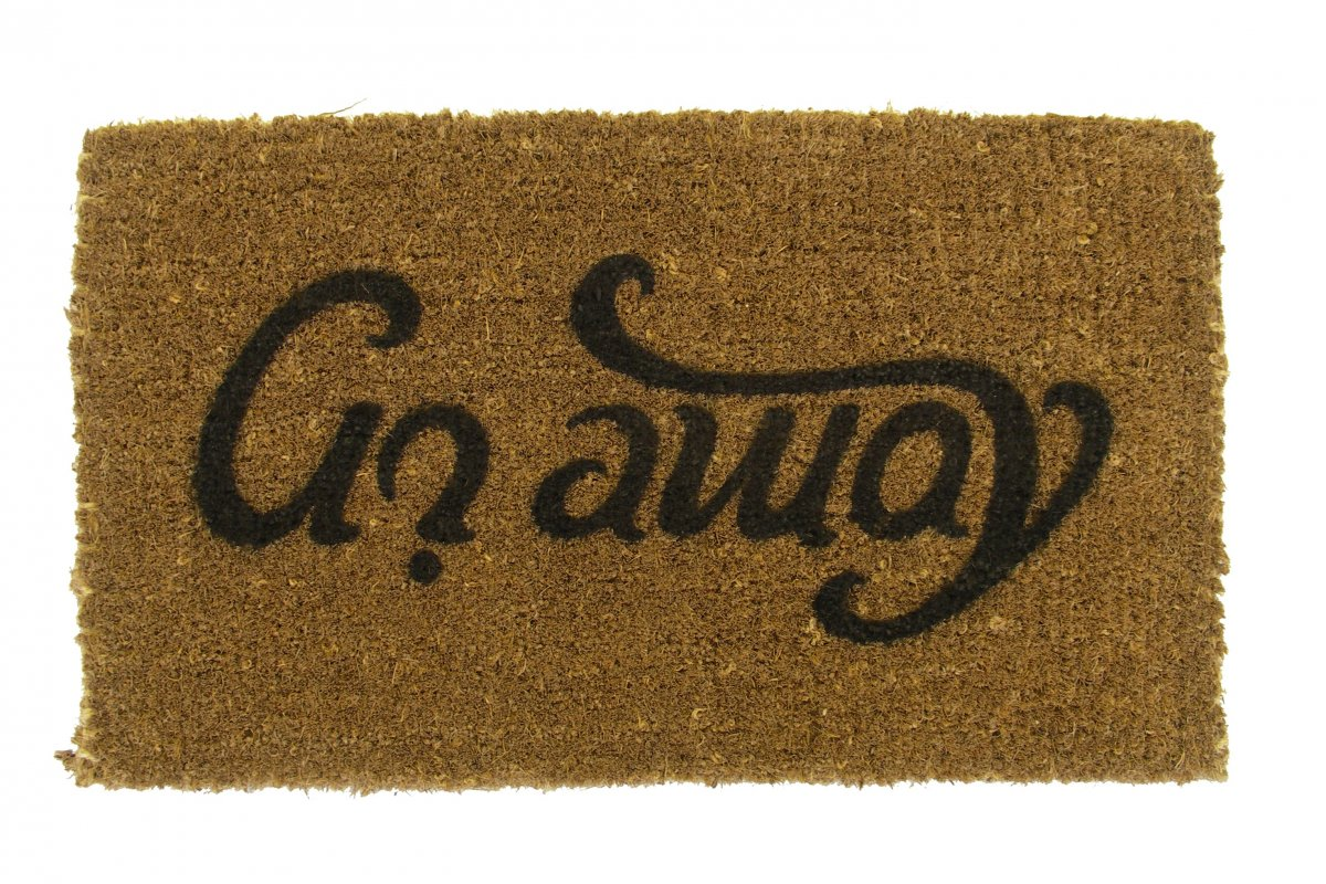 Doormat Come In Go Away Ambigram
