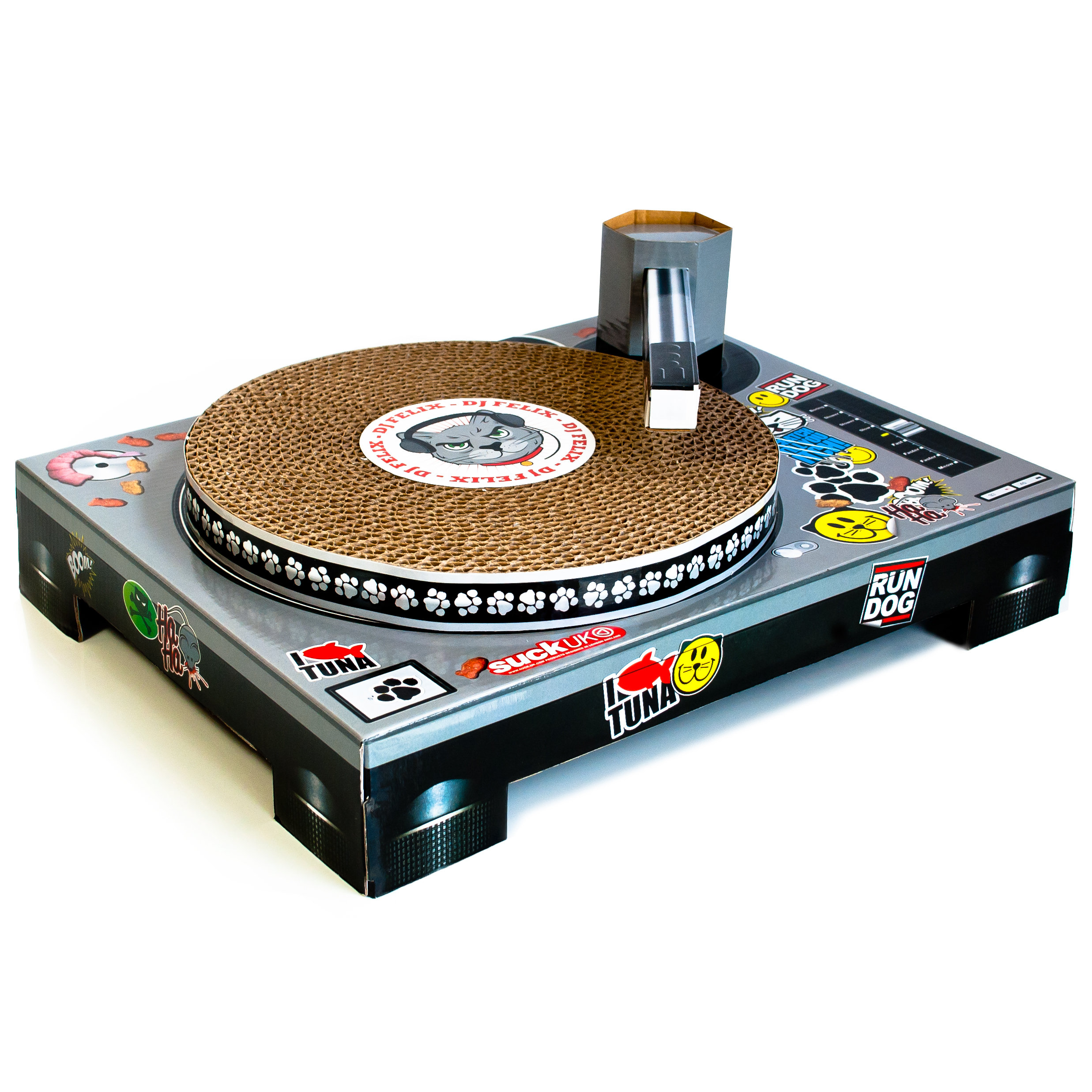 Cat Scratch Turntable Content Gallery : Cardboard DJ turntable ...