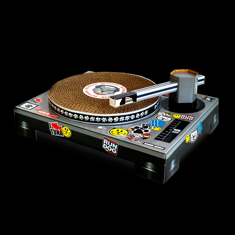 Cat Scratch Turntable Content Gallery : Cardboard DJ ...