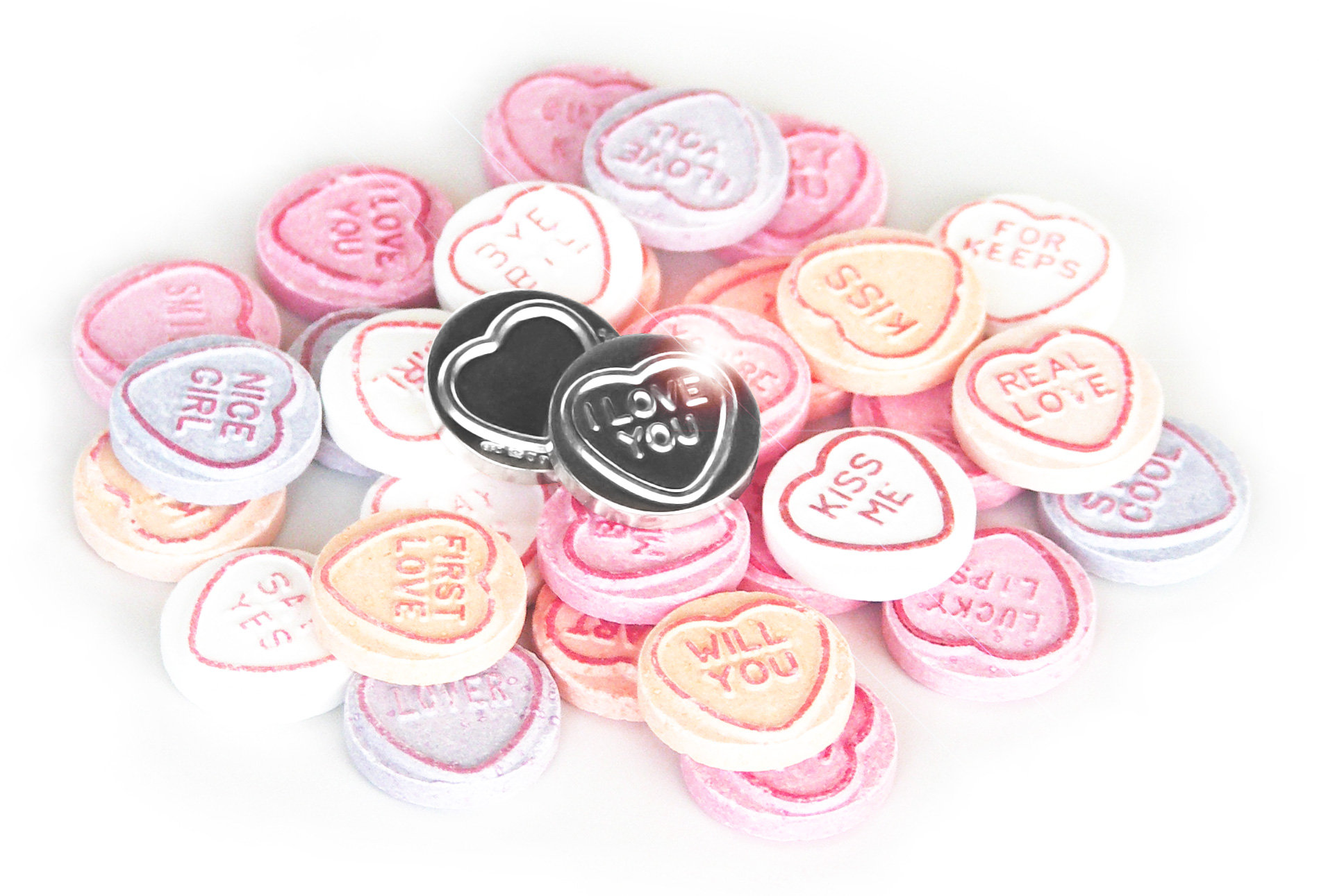 Silver Love Hearts Content Gallery Silver Replica Of The Classic
