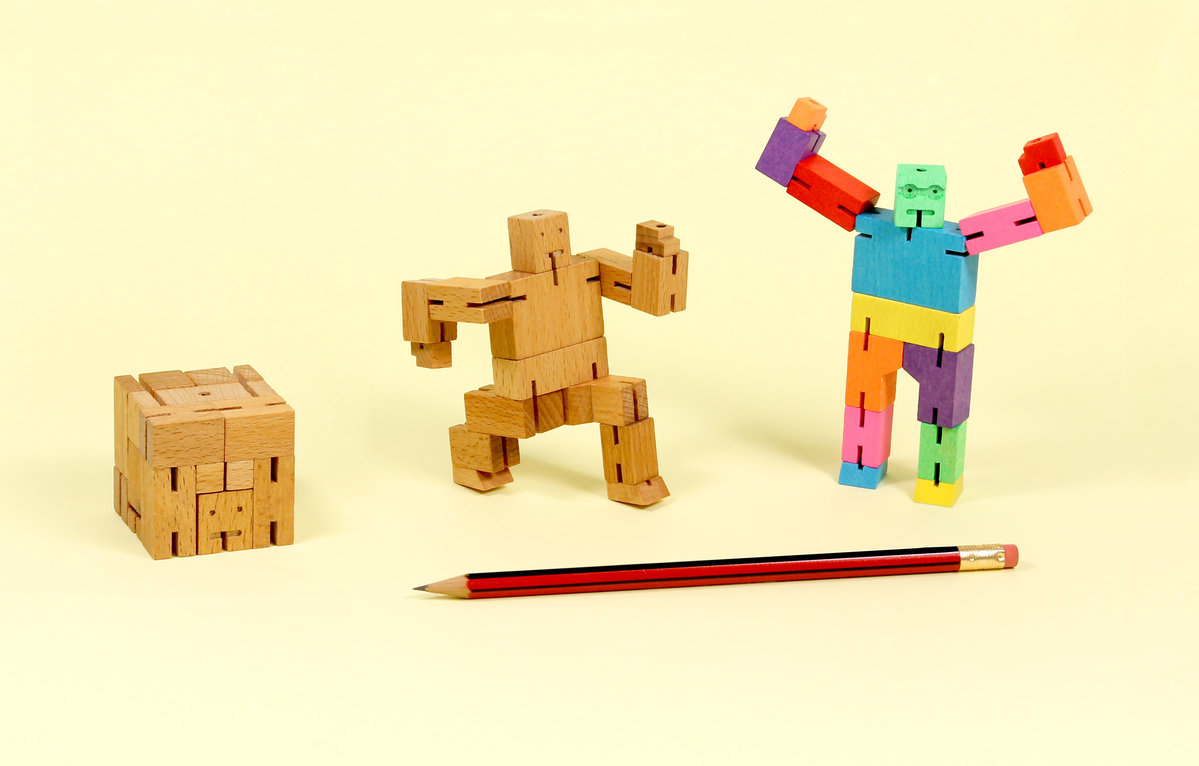 Cubebot Micro Wooden Robot Puzzles Fold Into 15 Cubes