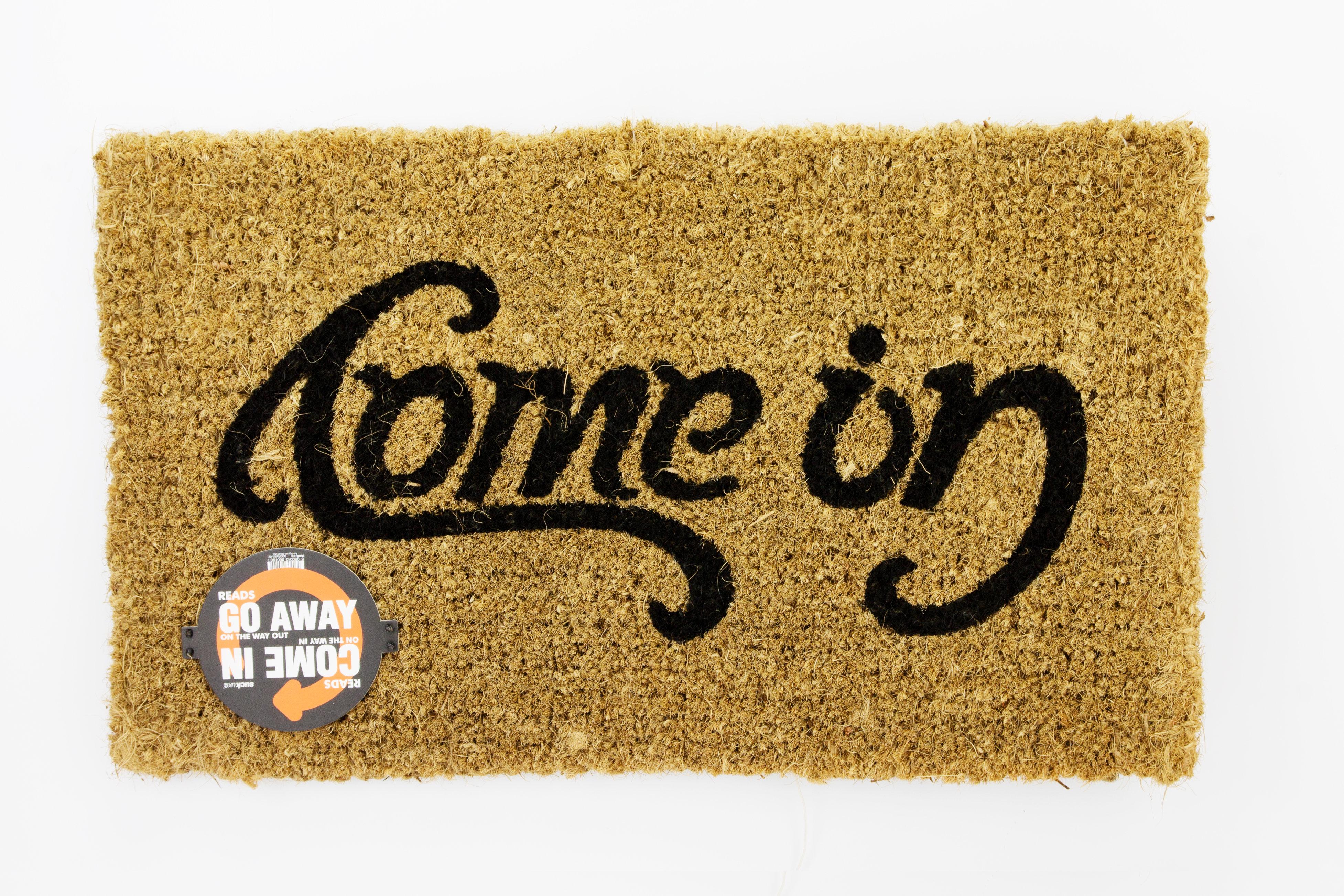 Doormat Content Gallery Come In Go Away Ambigram