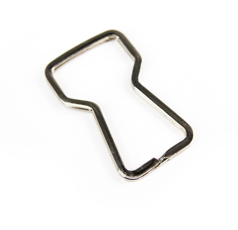 split ring bottle opener keyring that doubles as a bottle opener. Black Bedroom Furniture Sets. Home Design Ideas