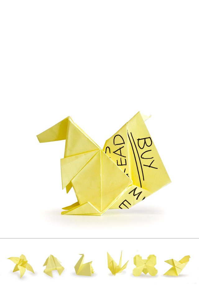 Origami Sticky Notes Recycle Your Old Notes Into Origami