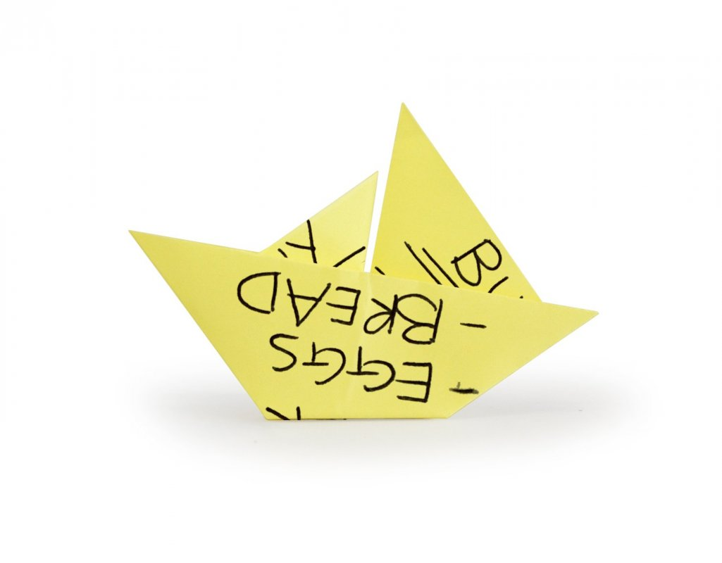 Origami sticky notes recycle your old notes into origami image jeuxipadfo Images