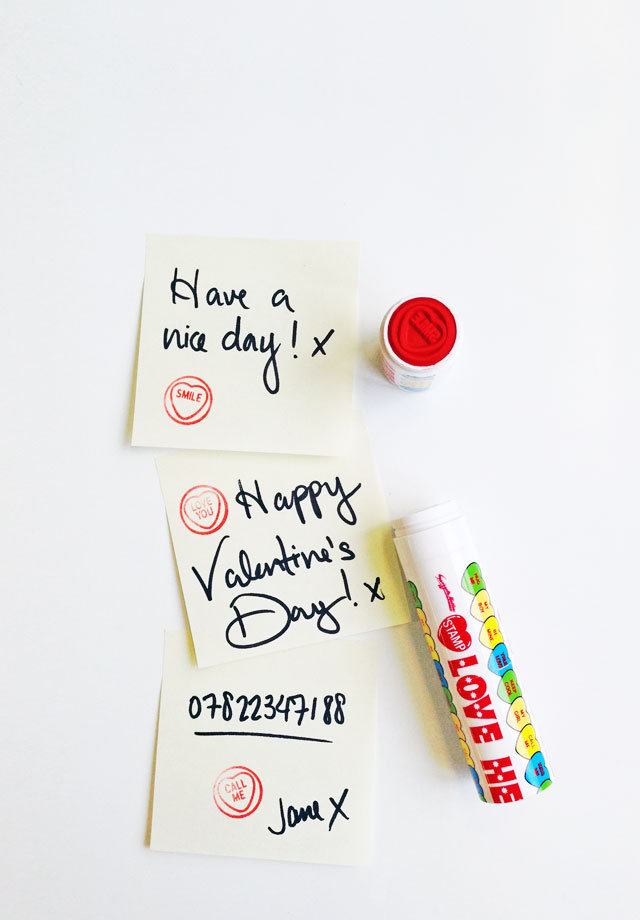 Love Heart Stamp : Ink stamps with heartfelt messages