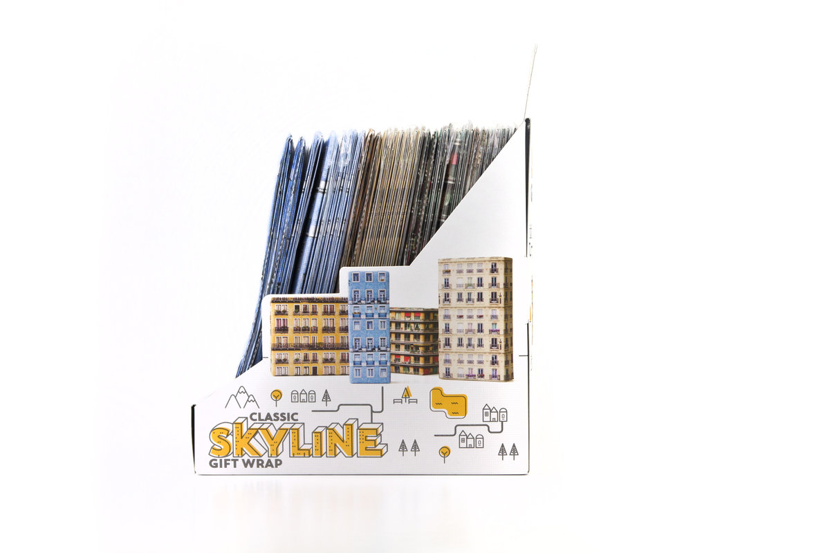 Skyline Gift Wrap Your Presents Will Look Like A Mini City